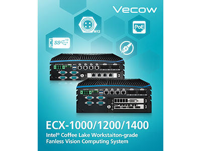 ECX-1000 Series Workstation-grade Intel Xeon/Core i7/i5/i3 (Coffee Lake) Fanless Vision Computing System