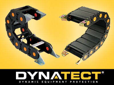 Dynatect designs and manufactures plastic, metal, and hybrid cable carriers. Nylatrac® and Nylatube® carriers are highly durable, corrosion resistance, and are suitable for applications requiring high speed/ acceleration and/or long travel operation.