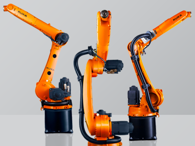 The industrial robots of the KR CYBERTECH nano series are extremely compact and precise.