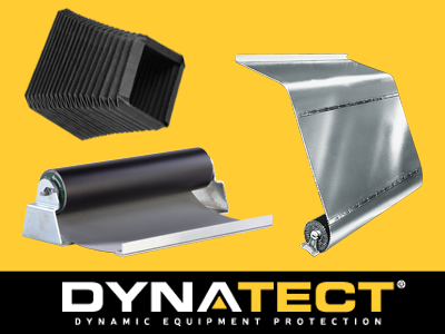 Dynatect helps support a safer and more productive manufacturing environment. Dynatect's portfolio includes fabric and aluminum slat roll-up doors, cable carriers, bellows, and covers that are engineered to provide protection for equipment and personnel.
