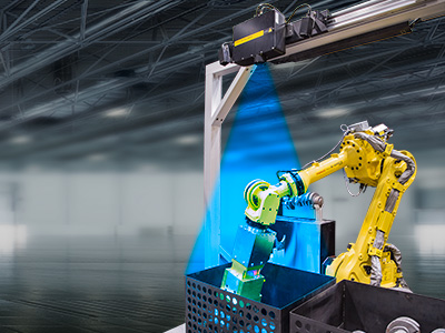 Binpic-vision: FANUC's integrated 2D and 3D vision guidance improves speed and quality.