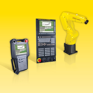 FANUC Power Motion i-MODEL A motion controller and LR Mate 200iD mini-robot